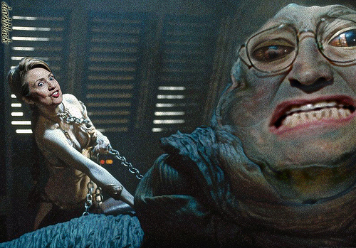 Dick Cheney en Jabba the Hutt