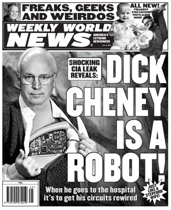 Dick Cheney est un robot !
